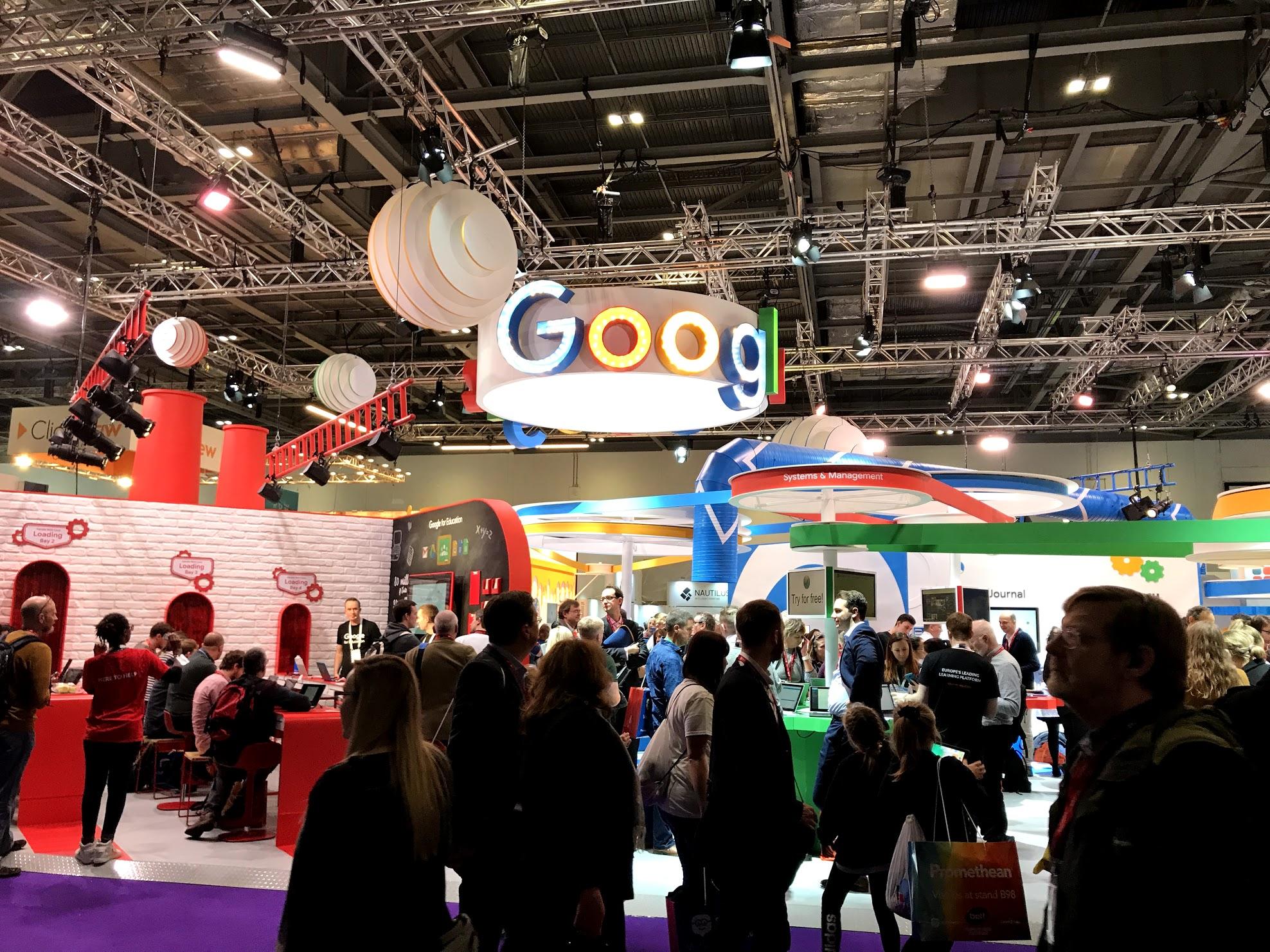 Chromebookなどが展示していたグーグル
